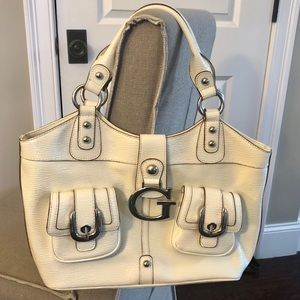 Guess Patent Leather Tote/Shoulder Bag- Large Size